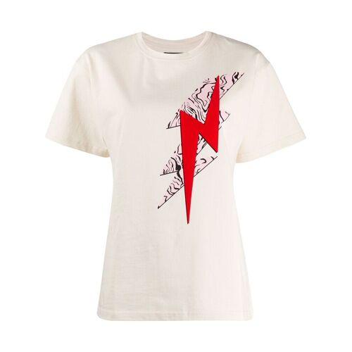 Isabel Marant T-shirt met bliksemschicht print - Nude