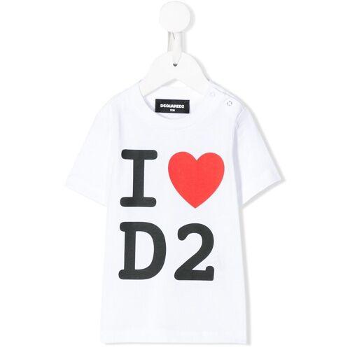 Dsquared2 Kids T-shirt met logohart - Wit
