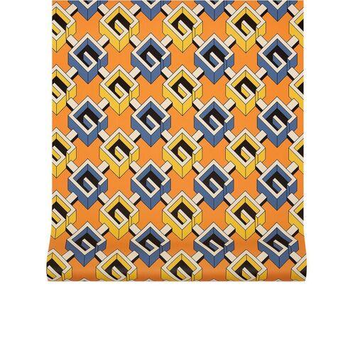 Gucci Muurbehang met print - Oranje