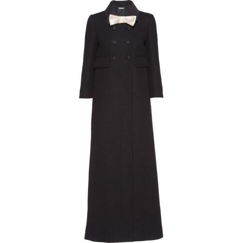 Miu Miu Overjas met strik - Zwart