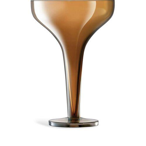 LSA International Set van twee champagneglazen - Goud