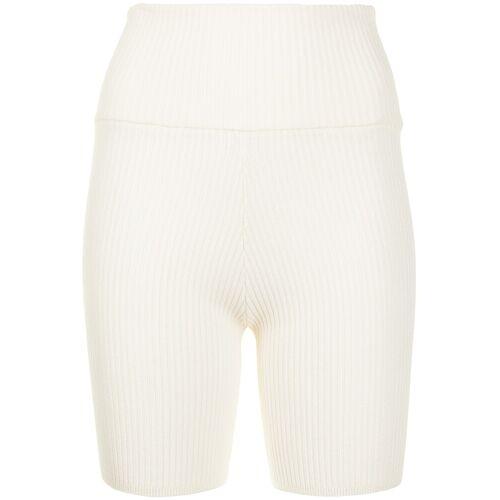 Anna Quan Bobby rib-knit shorts - Wit