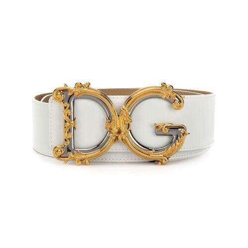 Dolce & Gabbana DG barok riem - Wit