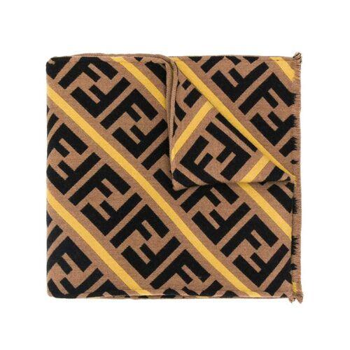 Fendi Sjaal met diagonale strepen - Bruin