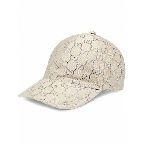 Gucci Honkbalpet met GG logo - Wit