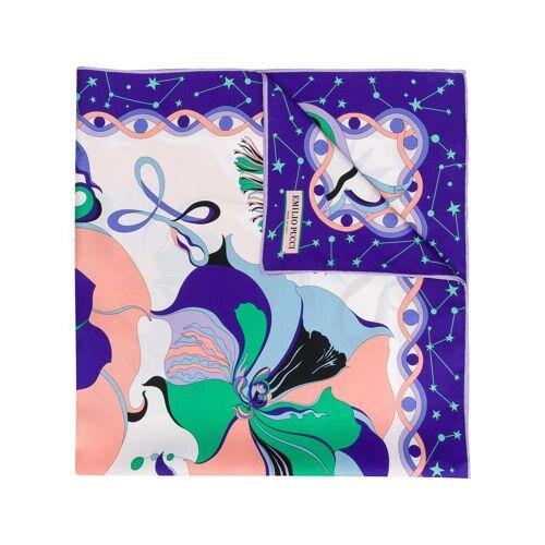 Emilio Pucci Sjaal met astrologie print - Roze