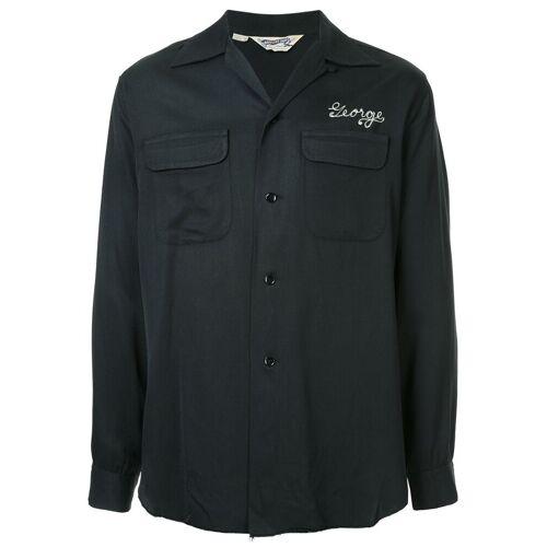 Alpha Fake Alpha Vintage Rockabilly shirt uit de jaren 1950 - Zwart