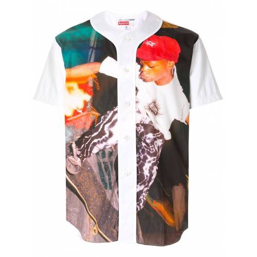 Supreme Honkbal top - Wit