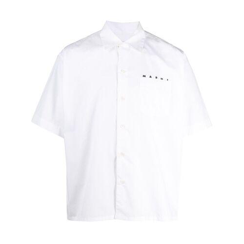 Marni Overhemd met Cubaanse kraag - Wit