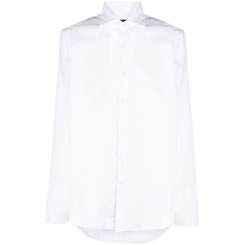 Fay Overhemd met Franse kraag - Wit