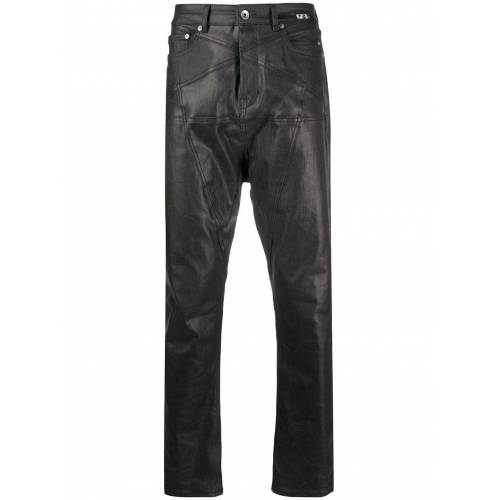 Rick Owens Gecoate jeans - Zwart