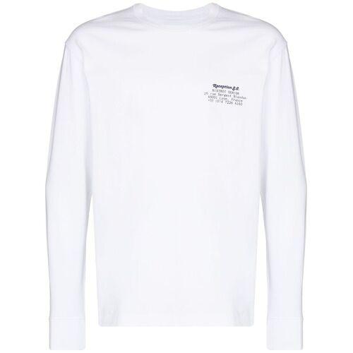 Reception T-shirt met print - Wit