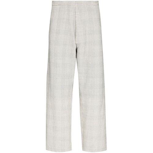Reception Geruite pantalon - Wit