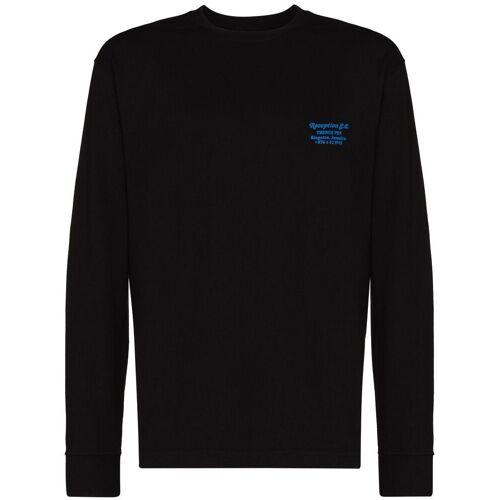 Reception T-shirt met lange mouwen - Zwart