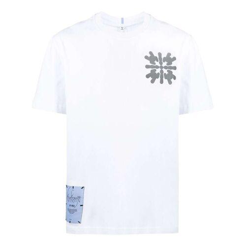 MCQ T-shirt met abstracte print - Wit