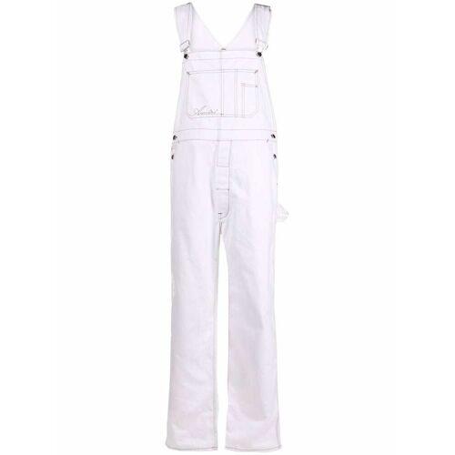 AMIRI contrast-stitching denim overalls - Wit