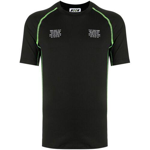 MSGM T-shirt met grafische print - Zwart