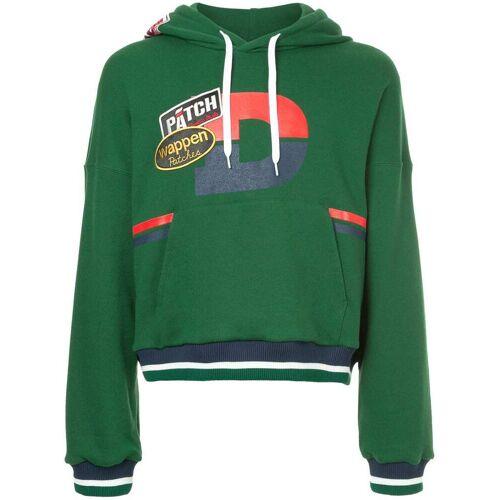 Doublet hoodie met patches - Groen