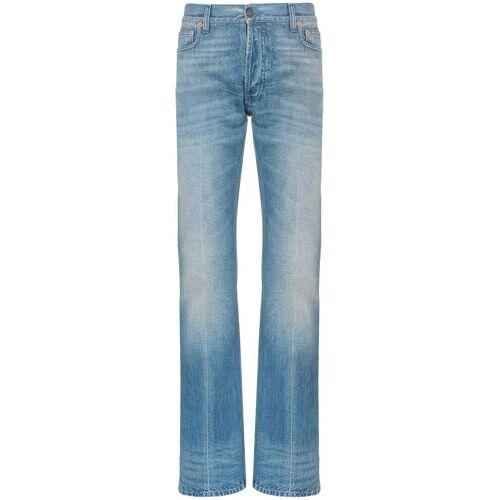 Gucci straight jeans met versiering - Blauw