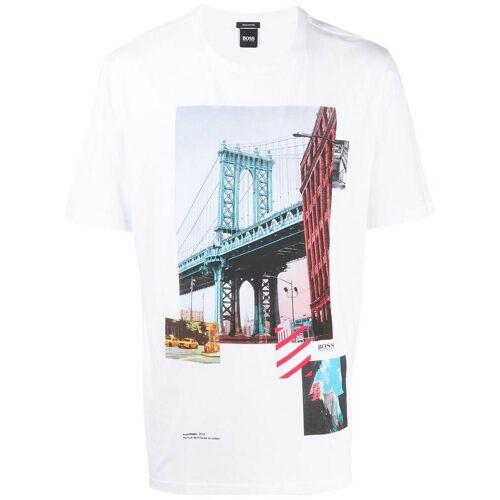 Boss T-shirt met grafische print - Wit