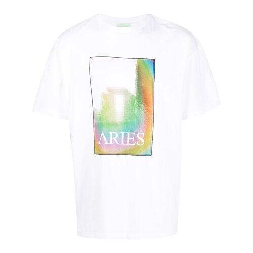 Aries T-shirt met grafische print - Wit