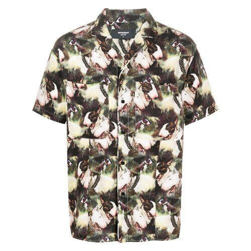 Represent Overhemd met all-over print - Groen