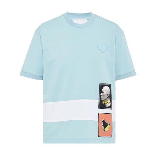 Prada T-shirt met grafische print - Wit