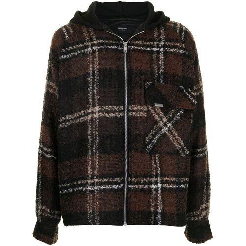 Represent Geruit overhemd - Bruin