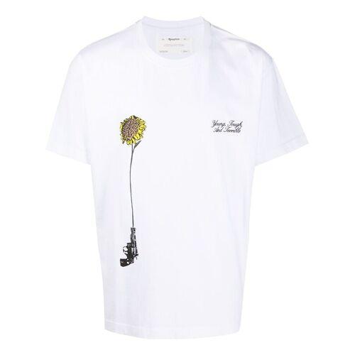 Reception T-shirt met ronde hals - Wit