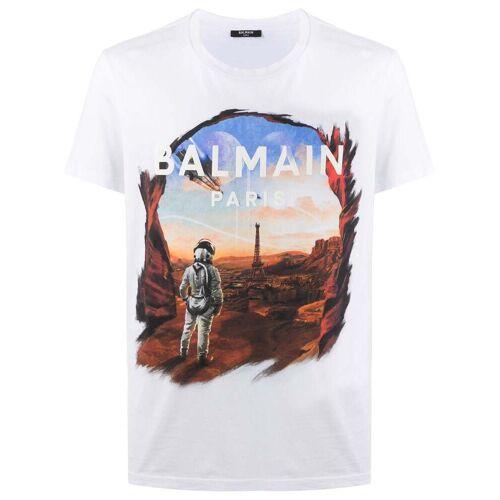 Balmain Parisian Dystopia T-shirt met print - Wit