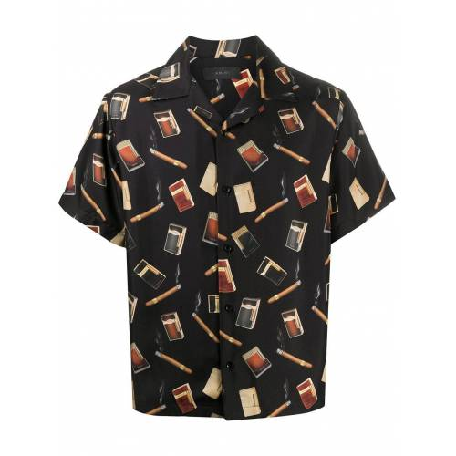 AMIRI Bowlingshirt - Zwart