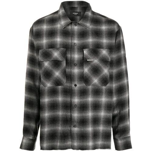 Represent Geruit overhemd - Zwart