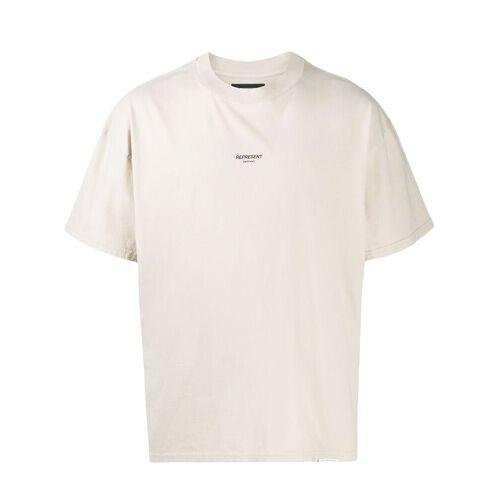 Represent T-shirt met logoprint - Nude