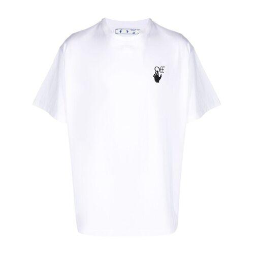 Off-White T-shirt met kenmerkend kruis - Wit