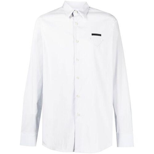 Prada Overhemd met driehoekige patch - Grijs