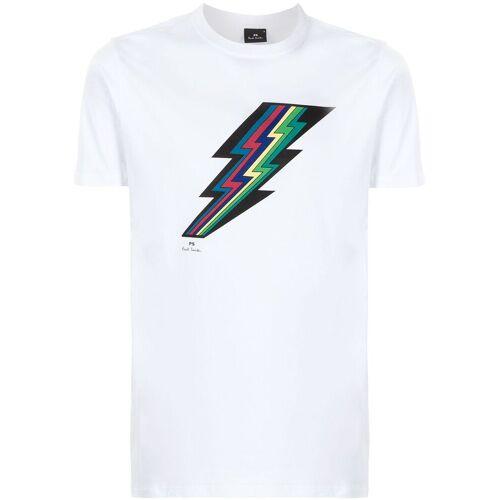 PS Paul Smith T-shirt met bliksemprint - Wit