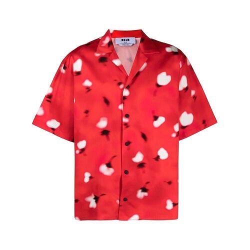 MSGM Bowlingshirt met print - Rood