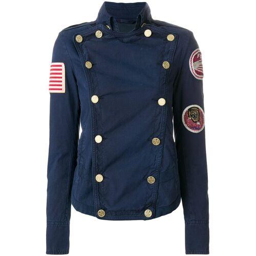 Mr & Mrs Italy gepatched jasje met dubbele rij knopen - Blauw
