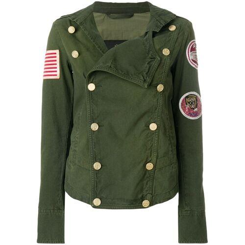 Mr & Mrs Italy gepatched jasje met dubbele rij knopen - Groen