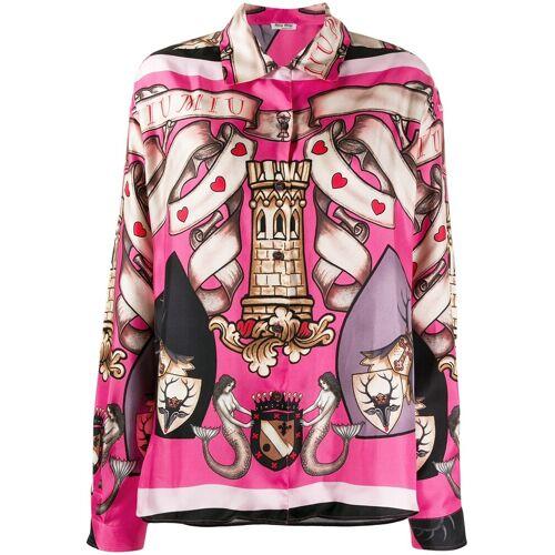 Miu Miu Shirt met grafische print - Roze