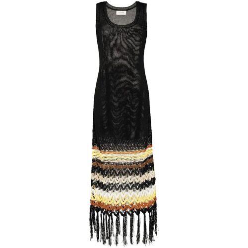 Wales Bonner Gebreide midi-jurk - Zwart