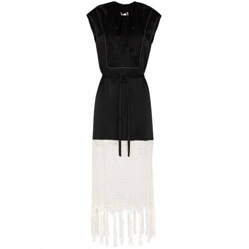 Wales Bonner Gesmockte jurk - Zwart