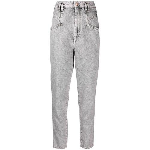 Isabel Marant Jeans met acid-wassing - Grijs