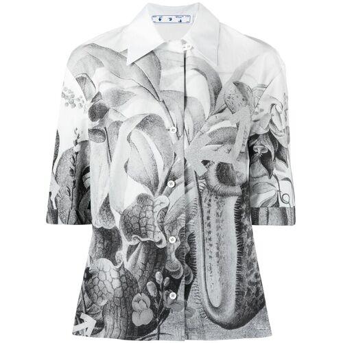 Off-White Blouse met botanische print - Wit