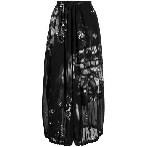 Y's Rok met abstracte print - Zwart