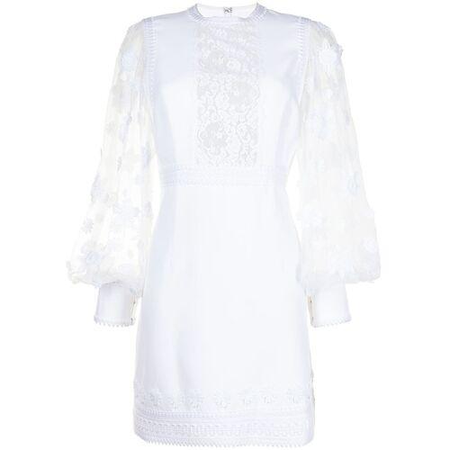 Andrew Gn Mini-jurk met kant - Wit