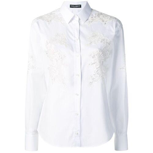 Dolce & Gabbana shirt met inzetstukken van kant - Wit