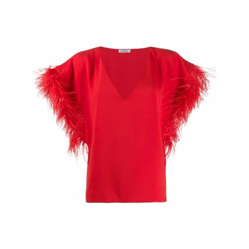 P.A.R.O.S.H. Oversized top - Rood