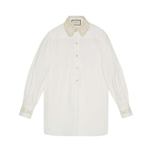 Gucci Shirt met afneembare kraag - Wit