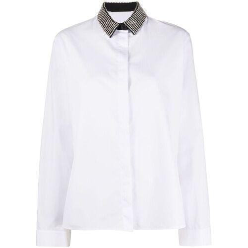 Haider Ackermann Shirt met edelstenen - Wit